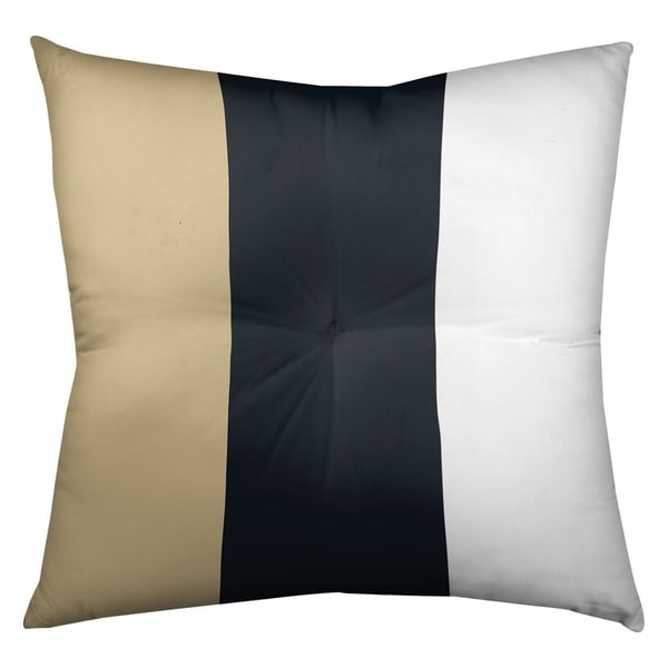 New Orleans New Orleans Football Stripes Floor Pillow - Square Tufted