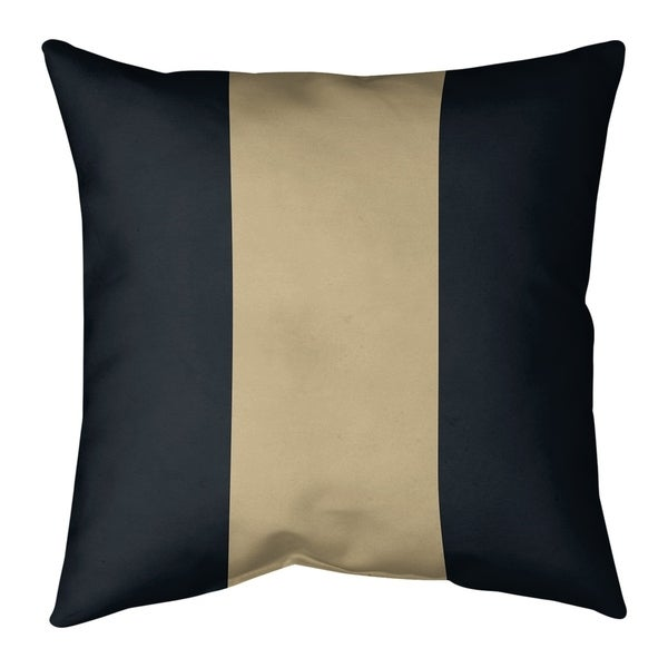 New Orleans New Orleans Football Stripes Pillow (w/Rmv Insert)-Spun Poly