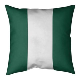 New York New York Big Football Stripes Floor Pillow - Standard