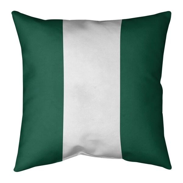 New York New York Fly Football Stripes Floor Pillow - Standard