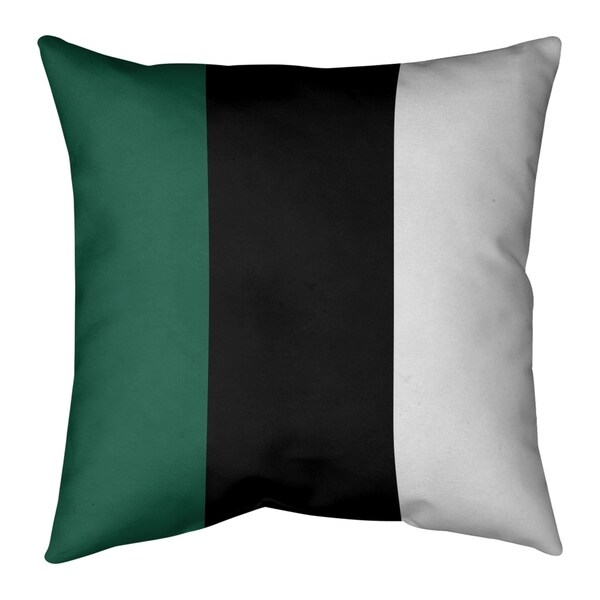 New York New York Fly Football Stripes Pillow-Cotton Twill
