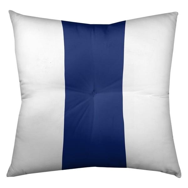 New York New York Big Football Stripes Floor Pillow - Square Tufted