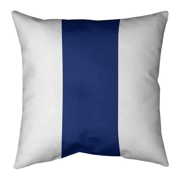 New York New York Big Football Stripes Pillow-Faux Suede