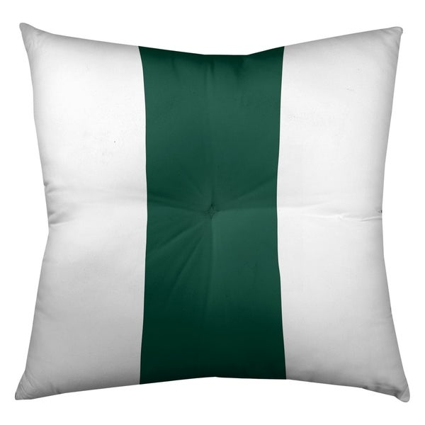 New York New York Fly Football Stripes Floor Pillow - Square Tufted