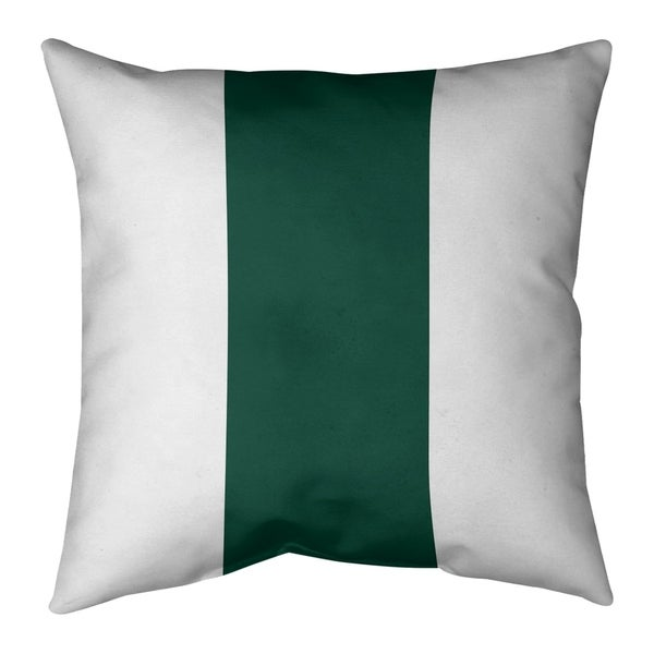 New York New York Fly Football Stripes Pillow-Faux Linen