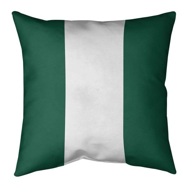 New York New York Big Football Stripes Pillow-Spun Polyester