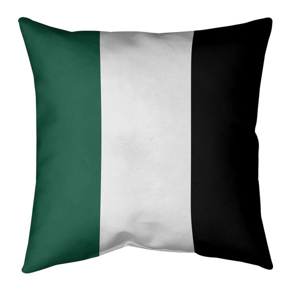 New York New York Fly Football Stripes Pillow-Faux Suede