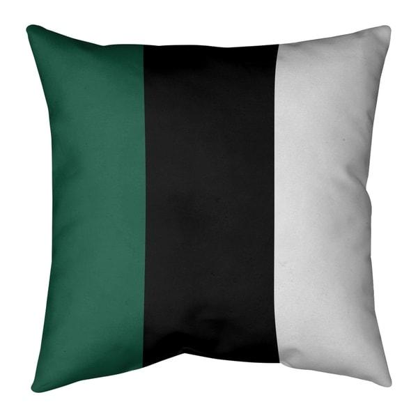 New York New York Fly Football Stripes Pillow (w/Rmv Insert)-Spun Poly