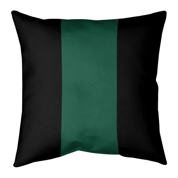 New York New York Fly Football Stripes Pillow (w/Rmv Insert)-Spun Poly