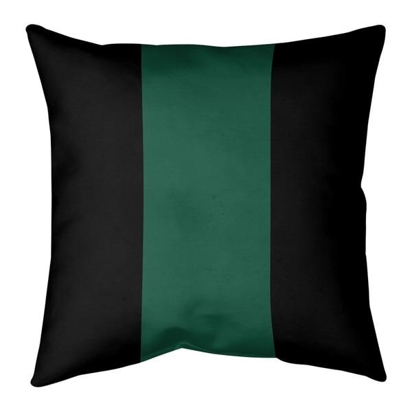 New York New York Fly Football Stripes Pillow-Spun Polyester