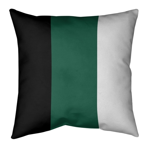 New York New York Fly Football Stripes Pillow-Faux Linen