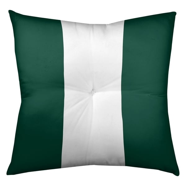 New York New York Fly Football Stripes Floor Pillow - Square Tufted