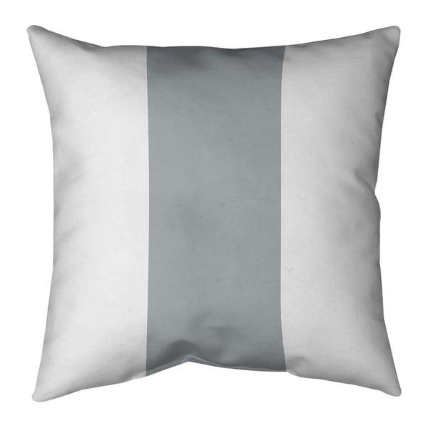 Oakland Oakland Football Stripes Pillow (w/Rmv Insert)-Spun Poly