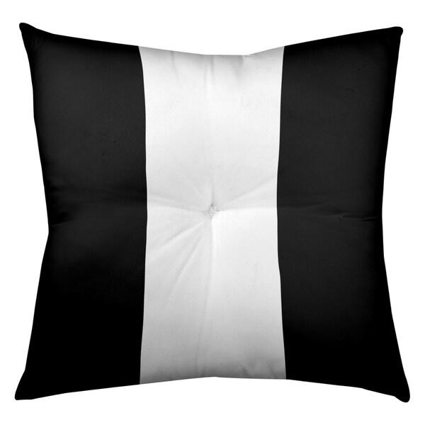 Oakland Oakland Football Stripes Floor Pillow - Square Tufted