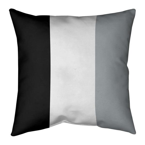 Oakland Oakland Football Stripes Pillow-Faux Suede