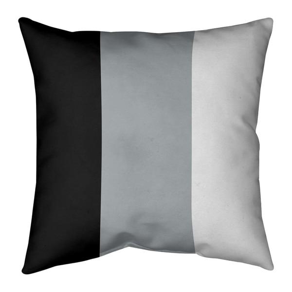 Oakland Oakland Football Stripes Pillow (Indoor/Outdoor)