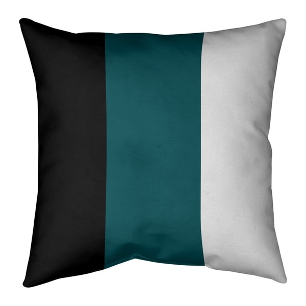 Philadelphia Philadelphia Football Stripes Pillow (w/Rmv Insert)-Spun Poly