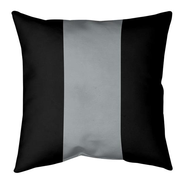 Oakland Oakland Football Stripes Pillow-Faux Linen