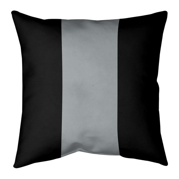 Oakland Oakland Football Stripes Pillow-Faux Suede