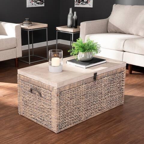 Eachann Coastal Brown Wood Living Room Tables (Set of 3)