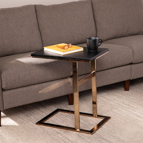 Strick & Bolton Rixton Contemporary Black Wood C-Table