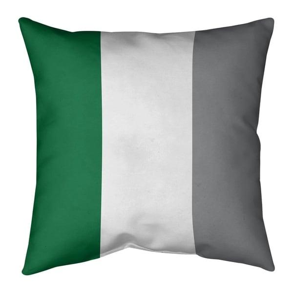 Philadelphia Philadelphia Throwback Football Stripes Pillow-Faux Suede