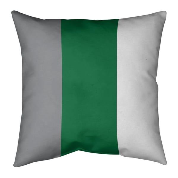 Philadelphia Philadelphia Throwback Football Stripes Pillow (w/Rmv Insert)-Spun Poly