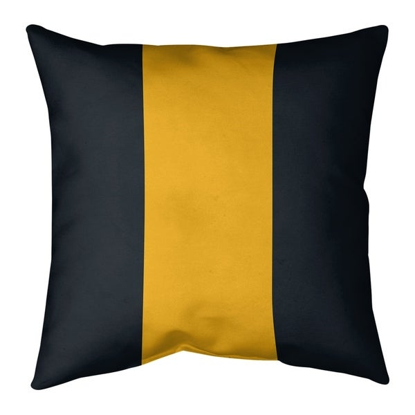Pittsburgh Pittsburgh Football Stripes Pillow-Faux Linen