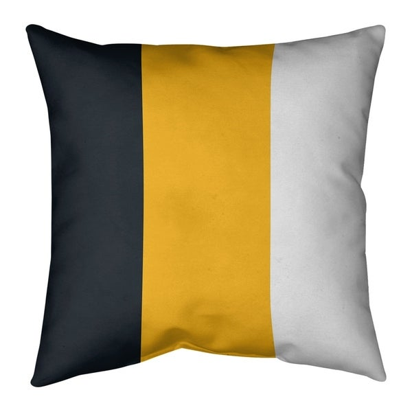 Pittsburgh Pittsburgh Football Stripes Pillow-Spun Polyester