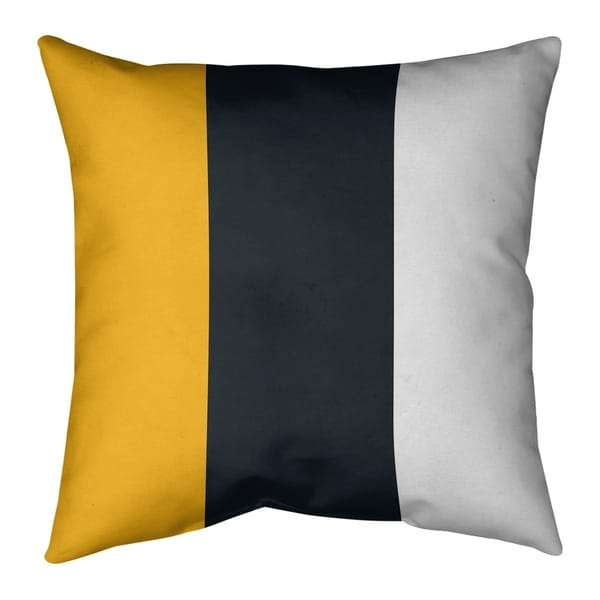 Pittsburgh Pittsburgh Football Stripes Pillow (Indoor/Outdoor)