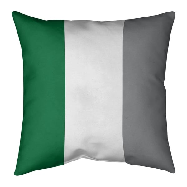 Philadelphia Philadelphia Throwback Football Stripes Pillow-Spun Polyester