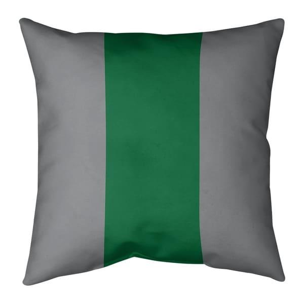 Philadelphia Philadelphia Throwback Football Stripes Pillow-Spun Polyester