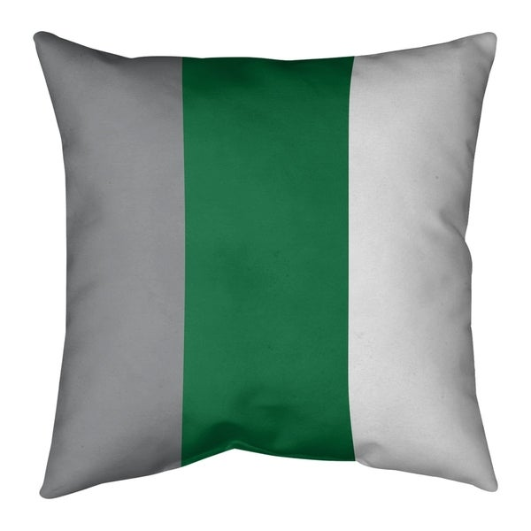 Philadelphia Philadelphia Throwback Football Stripes Pillow-Faux Linen