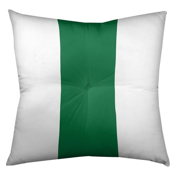 Philadelphia Philadelphia Throwback Football Stripes Floor Pillow - Square Tufted