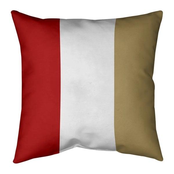 San Francisco San Francisco Football Stripes Pillow (w/Rmv Insert)-Spun Poly