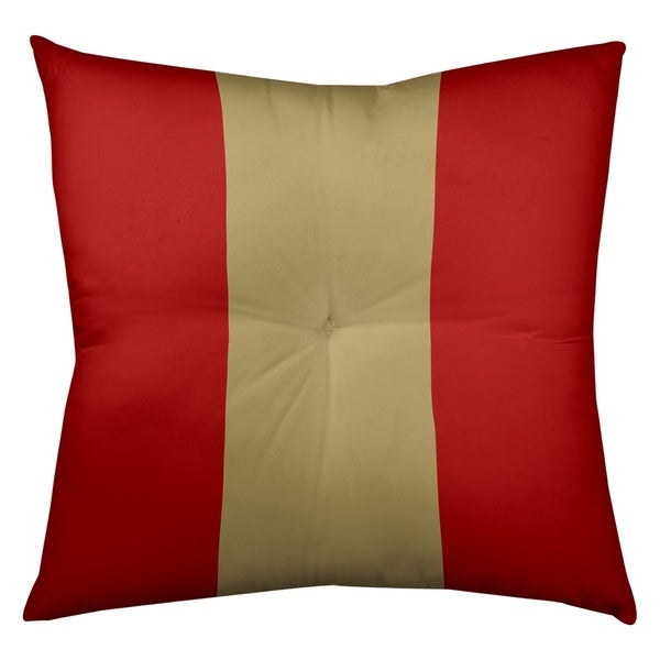 San Francisco San Francisco Football Stripes Floor Pillow - Square Tufted