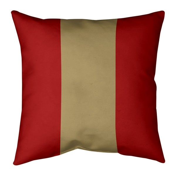 San Francisco San Francisco Football Stripes Pillow (w/Rmv Insert)-Spun Poly