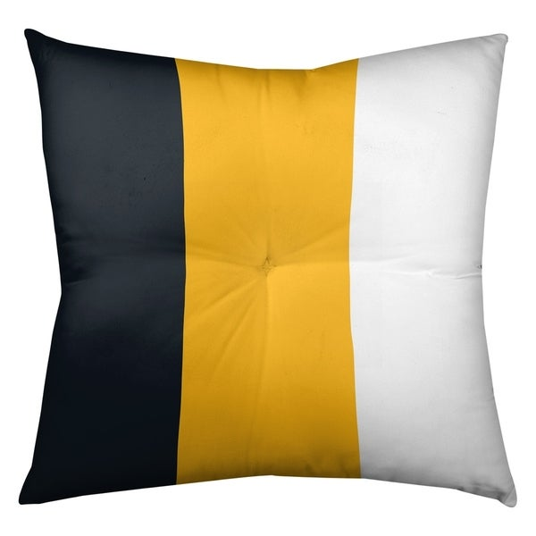 Pittsburgh Pittsburgh Football Stripes Floor Pillow - Square Tufted
