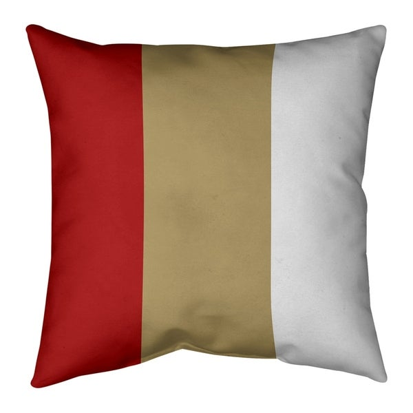 San Francisco San Francisco Football Stripes Pillow-Faux Linen