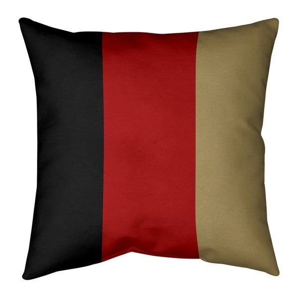 San Francisco San Francisco Football Stripes Pillow-Faux Suede