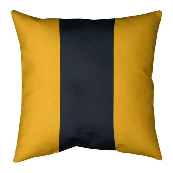 Pittsburgh Pittsburgh Football Stripes Pillow (w/Rmv Insert)-Spun Poly