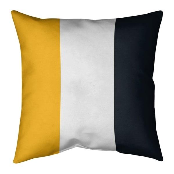 Pittsburgh Pittsburgh Football Stripes Pillow (w/Rmv Insert)-Spun Poly