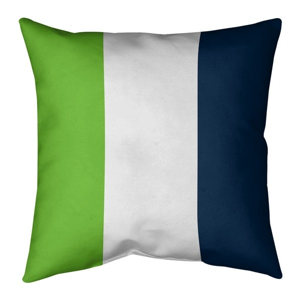 Seattle Seattle Football Stripes Pillow-Faux Suede