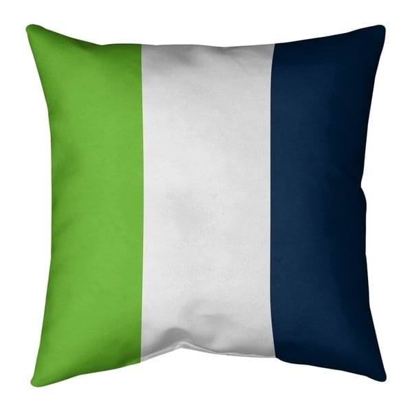Seattle Seattle Football Stripes Pillow-Spun Polyester