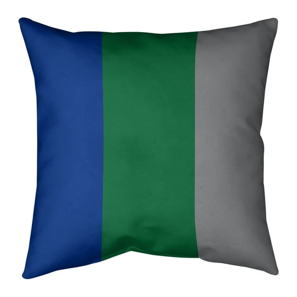 Seattle Seattle Throwback Football Stripes Floor Pillow - Standard