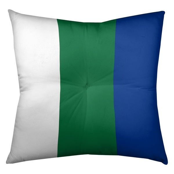 Seattle Seattle Throwback Football Stripes Floor Pillow - Square Tufted