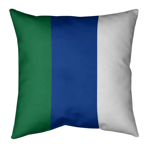 Seattle Seattle Throwback Football Stripes Pillow-Faux Linen