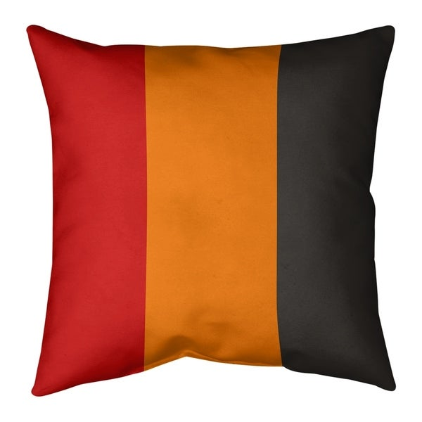 Tampa Bay Tampa Bay Football Stripes Pillow-Spun Polyester