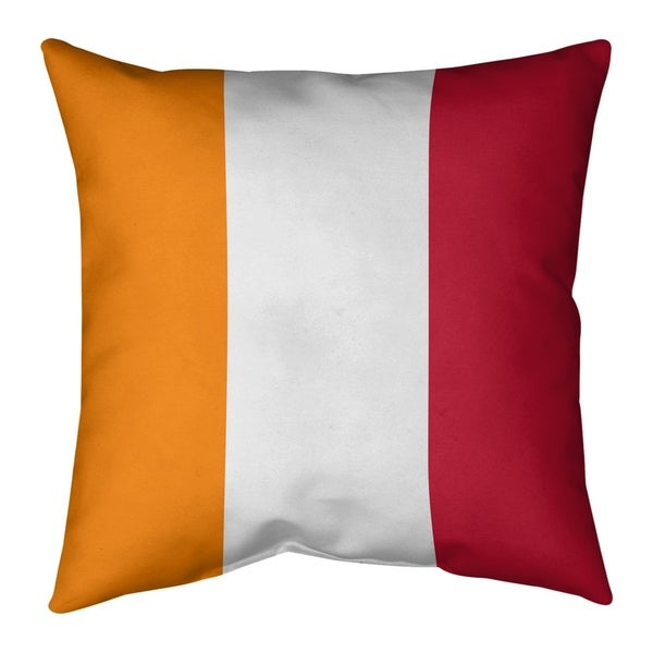 Tampa Bay Tampa Bay Throwback Football Stripes Pillow-Faux Linen