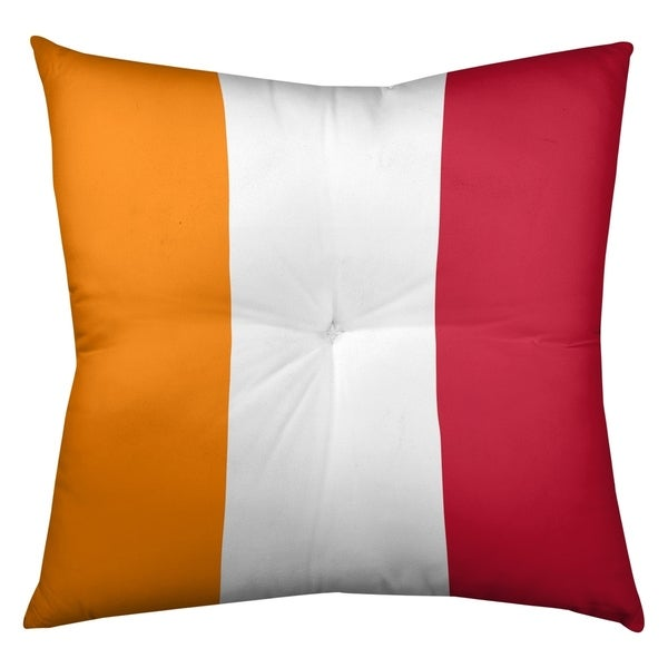 Tampa Bay Tampa Bay Throwback Football Stripes Floor Pillow - Square Tufted